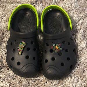 Kids  Boys Crocs Teenage Mutant Ninja Turtle sz 12